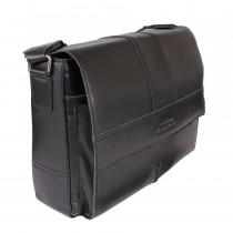 Портфель из натуральной кожи de esse LC45474X-1 Черный