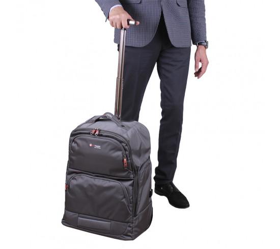 Чемодан-рюкзак de esse BV12908-011-22 Серый