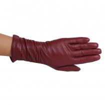 Перчатки женские L0610-2 Бордовые