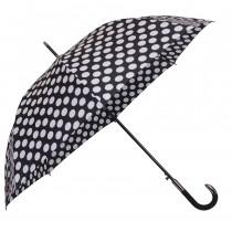 Зонт-трость de esse 1204 полуавтомат Черно-белый
