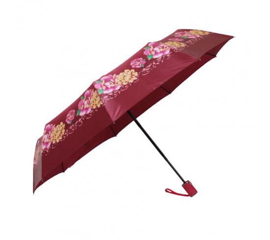 Зонт складной de esse 3136 автомат Бордовый