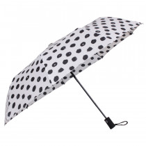 Зонт складной de esse 3223 полуавтомат Черно-белый