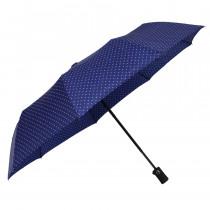 Зонт складной de esse 3223 полуавтомат Синий в горошек